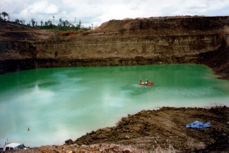 Earth Systems conducting water treatment at mine site to treat turbidity issues.