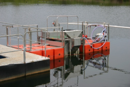 Portable floating reagent mixing and dosing equipment for treating water quality issues.